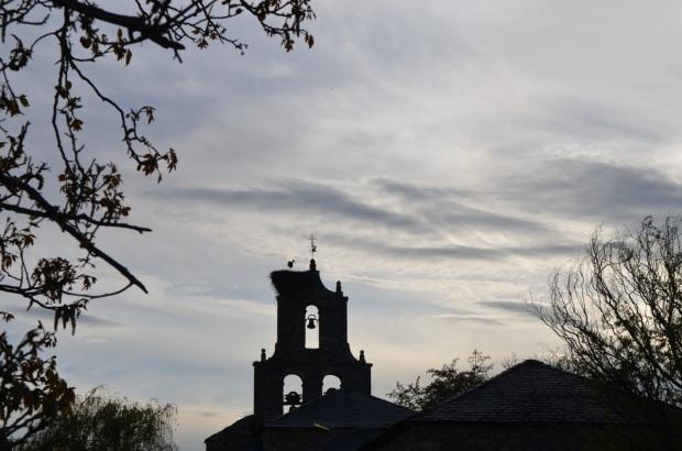 Church with baby crane
