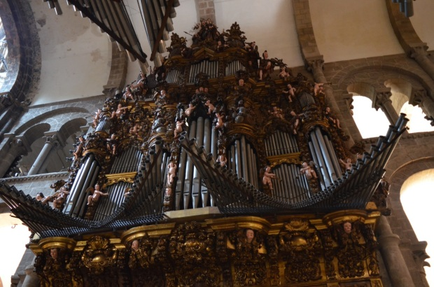 Half of the cathedral organ