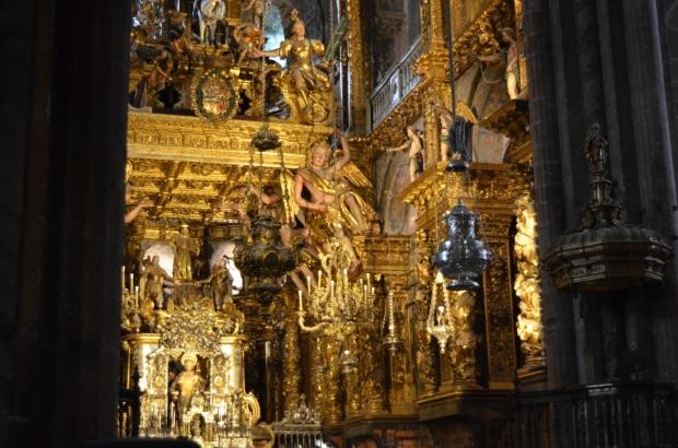 Incense burner and golden altar