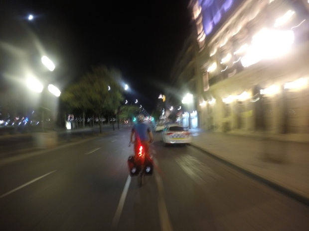 Night riding in Lleida