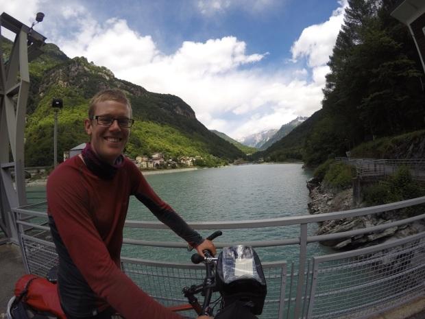 At a dam below the border