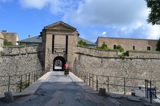 Across the drawbridge