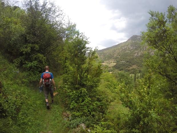 Back towards the village