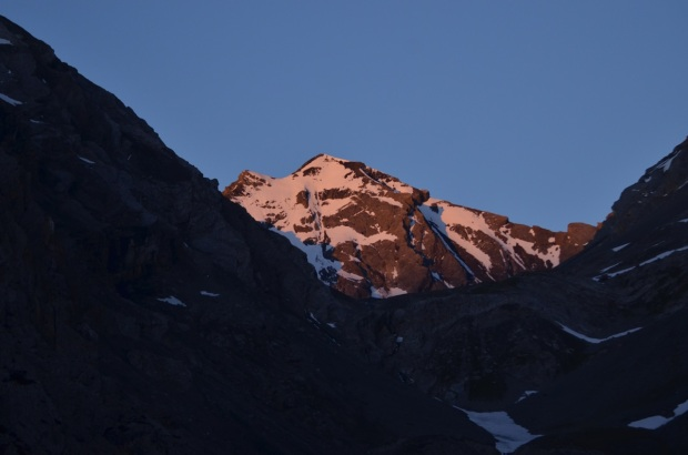 Sunrise on Piz Quattervals