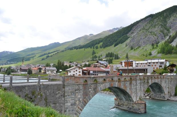 Crossing a lovely stone bridge