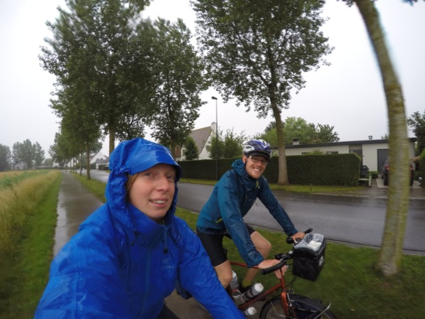 It was a bit soggy on the way into Blankenberge