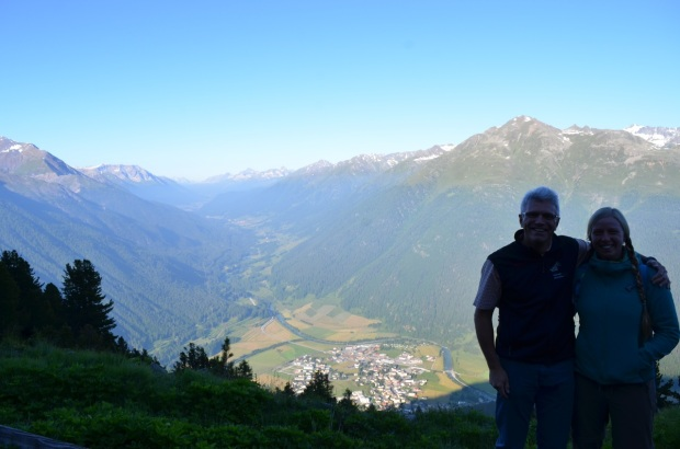 Ruedi and Anna (Zernez in background)