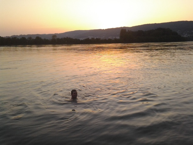 Dave enjoying the Rhein