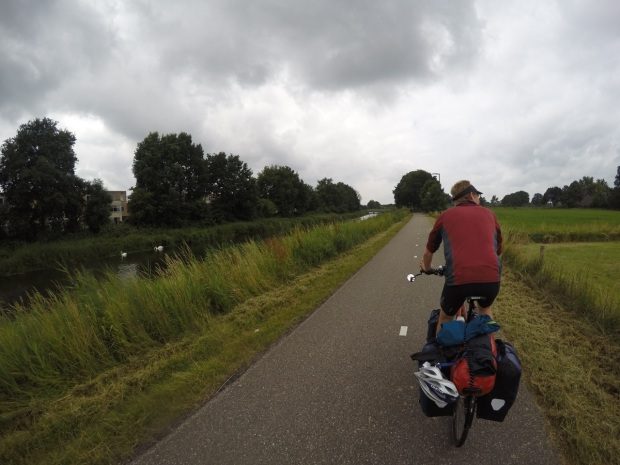 Canal-side route into Amersfoort
