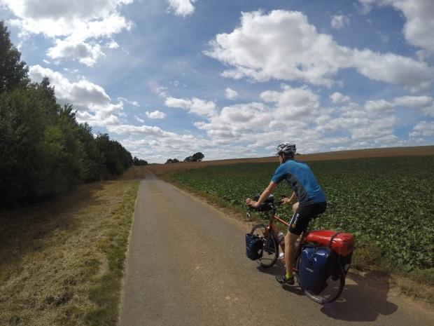 Enjoying a nice paved farm track