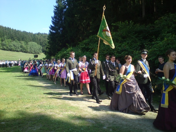 Parade of fancy dresses and uniform