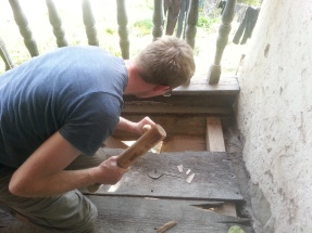 Chiseling a new mortice