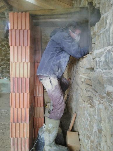 Dave grinding away