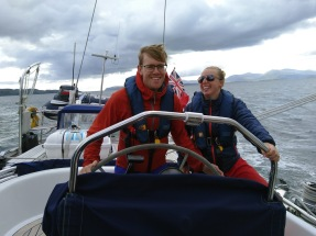 On a boat on the west coast of Scotland