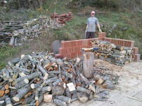 Firewood getting stacked