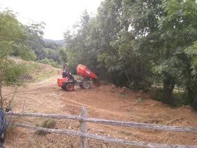 Dumping soil