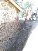 Hammering bedrock