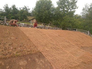 Laying out the matting