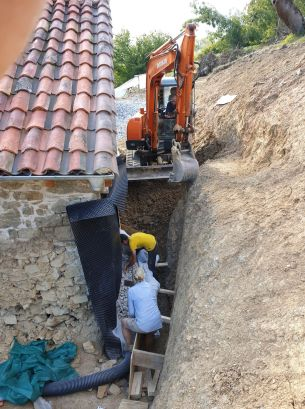 Working in the trench
