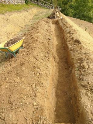 Trench dug