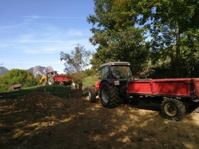 Tractors depart