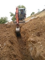 Ventilation pipe trench